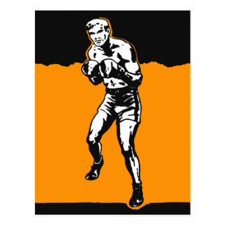 Vintage Kitsch Boxing Boxer in The Ring Postcard