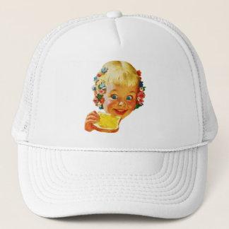 Vintage Kitsch Butter Loving Little Girl Ad Art Trucker Hat