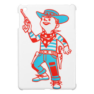 Vintage Kitsch Cartoon Cowboy Kid Boy Cover For The iPad Mini
