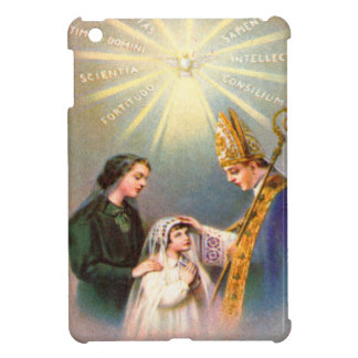 Vintage Kitsch Catholic Holy Card First Communion iPad Mini Cases