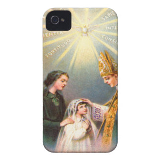 Vintage Kitsch Catholic Holy Card First Communion iPhone 4 Case