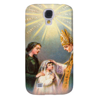 Vintage Kitsch Catholic Holy Card First Communion Samsung Galaxy S4 Case