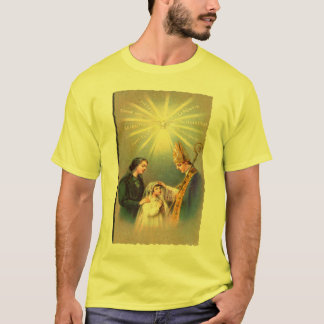Vintage Kitsch Catholic Holy Card First Communion T-Shirt