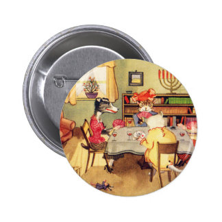 Vintage Kitsch Cats and Dogs Playing Cards Poker Button