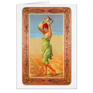 Vintage Kitsch Cigar Tobacco Girl Trade Card