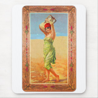 Vintage Kitsch Cigar Tobacco Girl Trade Card Mouse Pad