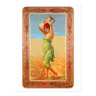 Vintage Kitsch Cigar Tobacco Girl Trade Card Postcard