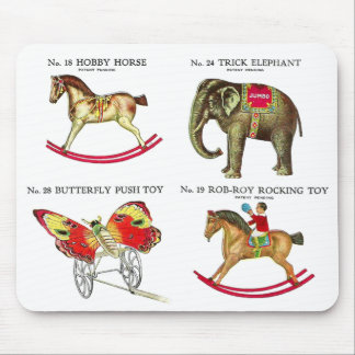 Vintage Kitsch Circus Tin Toys From Toy Catalog Mouse Pad