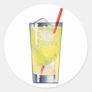 Vintage Kitsch Cocktail Gin Rickey Booze Classic Round Sticker