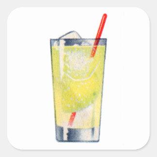 Vintage Kitsch Cocktail Gin Rickey Booze Square Sticker