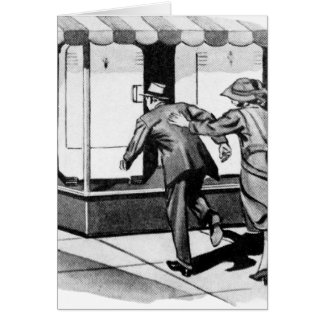 Vintage Kitsch Consumer Overconsumption Fridge Ad Card