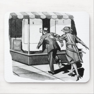 Vintage Kitsch Consumer Overconsumption Fridge Ad Mouse Pad