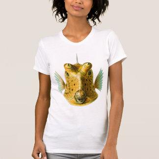 Vintage Kitsch Cowfish Fish Illustration Art Tee Shirt