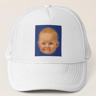 Vintage Kitsch Crazy Smiling Cute Trucker Hat