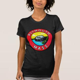 Vintage Kitsch Decal Plymouth Mass. Massachusetts T-Shirt
