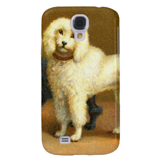 Vintage Kitsch Dog Poodles Victorian Illustration Samsung Galaxy S4 Cover