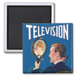 Vintage Kitsch Early Television Smart Phone TV Set Magnet