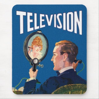 Vintage Kitsch Early Television Smart Phone TV Set Mouse Pad