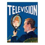 Vintage Kitsch Early Television Smart Phone TV Set Postcard