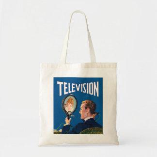 Vintage Kitsch Early Television Smart Phone TV Set Tote Bag