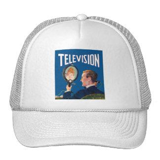 Vintage Kitsch Early Television Smart Phone TV Set Trucker Hat