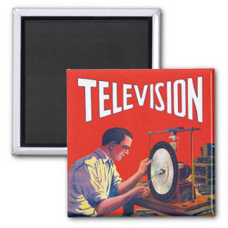 Vintage Kitsch Early TelevisionTechnology TV Set Magnet