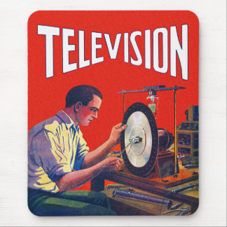 Vintage Kitsch Early TelevisionTechnology TV Set Mouse Pad