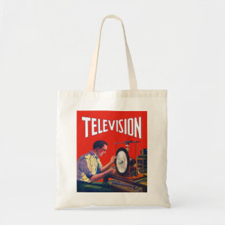 Vintage Kitsch Early TelevisionTechnology TV Set Tote Bag