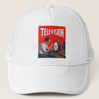 Vintage Kitsch Early TelevisionTechnology TV Set Trucker Hat