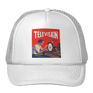 Vintage Kitsch Early TelevisionTechnology TV Set Trucker Hat