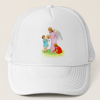 Vintage Kitsch Easter Angel with Two Trucker Hat