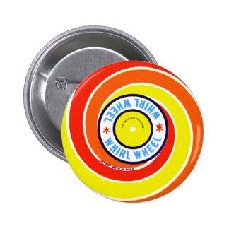 Vintage Kitsch Firework Label Whirl Wheel Button