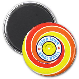 Vintage Kitsch Firework Label Whirl Wheel Refrigerator Magnet