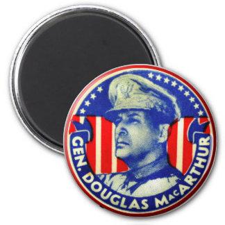 Vintage Kitsch General Douglas MacArthur Button 2 Inch Round Magnet