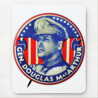 Vintage Kitsch General Douglas MacArthur Button Mouse Pad