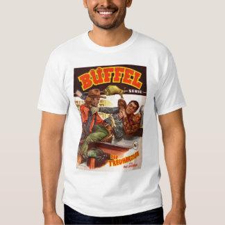 Vintage Kitsch German Western Cowboy Buffel Tee Shirts
