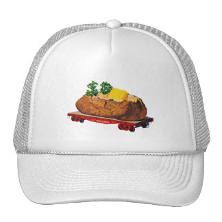 Vintage Kitsch Giant Baked Potato Tater Express Trucker Hat
