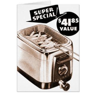 Vintage Kitsch Graphics Deep Fryer Deep Fried Ad Card