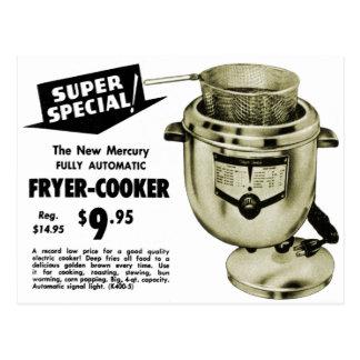 Vintage Kitsch Graphics Deep Fryer Deep Fried Ad Postcard