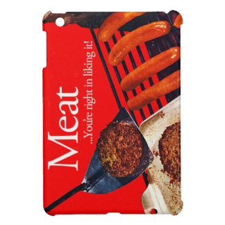 Vintage Kitsch Hamburger Meat You're Right To Like iPad Mini Covers