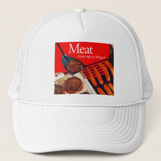 Vintage Kitsch Hamburger Meat You're Right To Like Trucker Hat