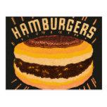 Vintage Kitsch Hamburgers Cheeseburger Matchbook Post Cards