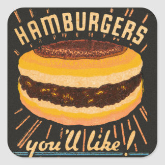 Vintage Kitsch Hamburgers Cheeseburger Matchbook Stickers