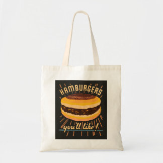 Vintage Kitsch Hamburgers Cheeseburger Matchbook Tote Bag