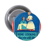 Vintage Kitsch Home Cooking 30s Matchbook Buttons