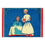 Vintage Kitsch Home Cooking 30s Matchbook Greeting Card