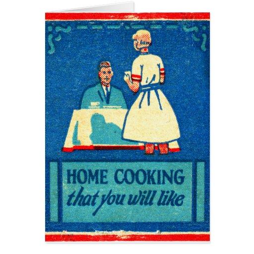 Vintage Kitsch Home Cooking 30s Matchbook Cards