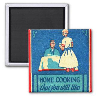 Vintage Kitsch Home Cooking 30s Matchbook Magnet