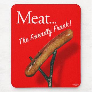 Vintage Kitsch Hot Dog 'Meat The Frankfurter' Mouse Pad