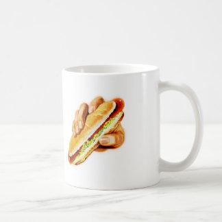 Vintage Kitsch Hot Dog with Relish Coffee Mug